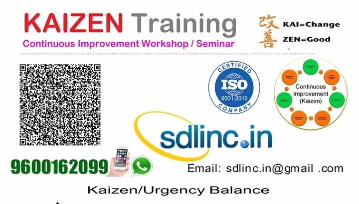 Kaizen Sdlinc Certified small improvement in workplace Certification ...